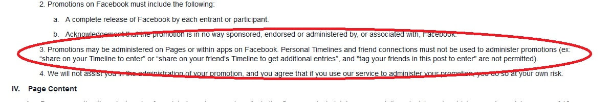 Facebook Page Guidelines
