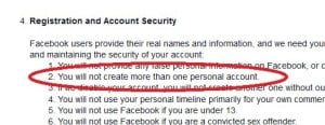 Facebook User Guidelines