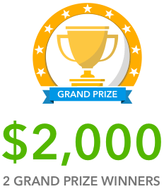 Win awesome cash prizes of up to $5000!