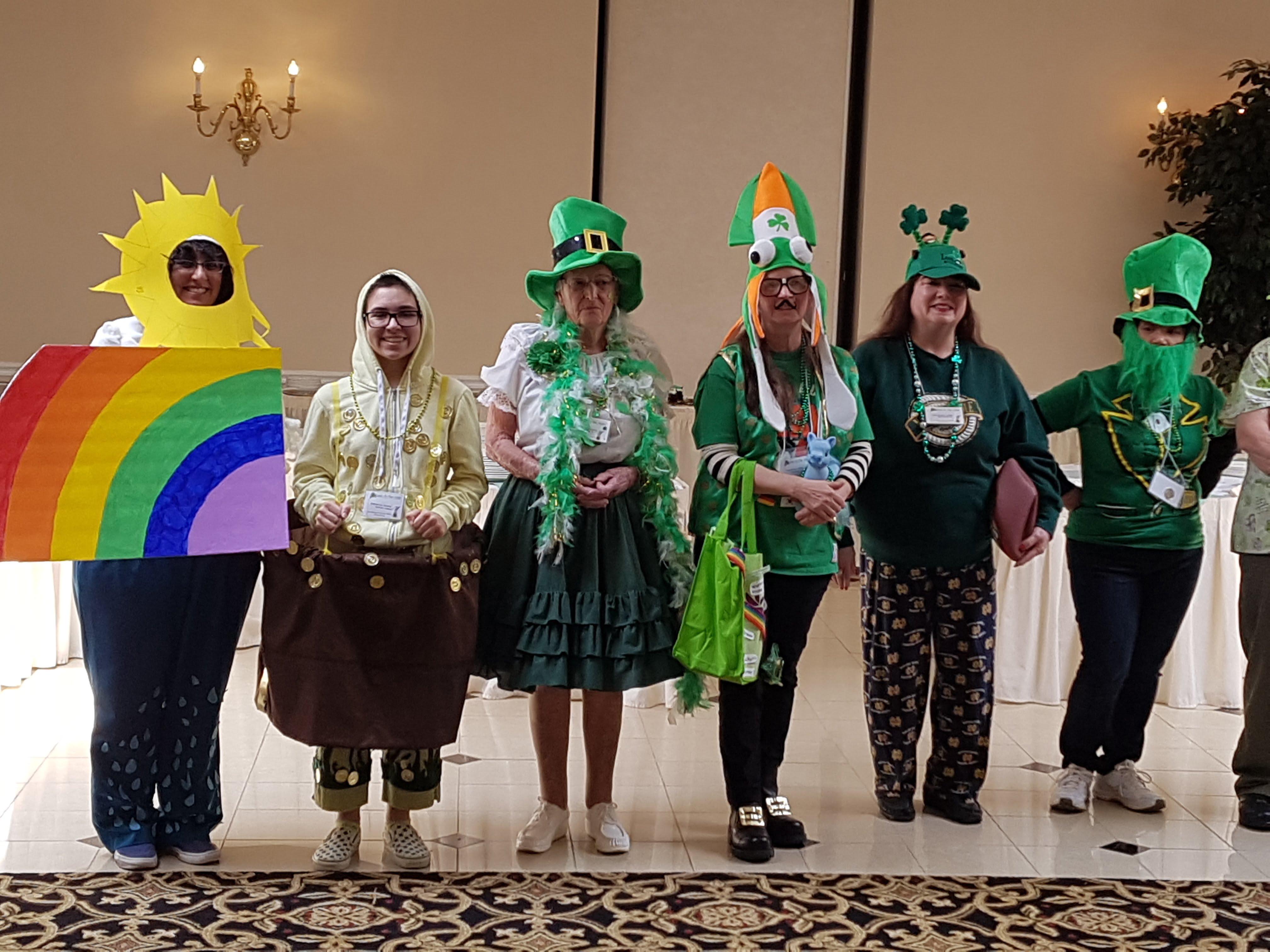 Costume contest entrants.