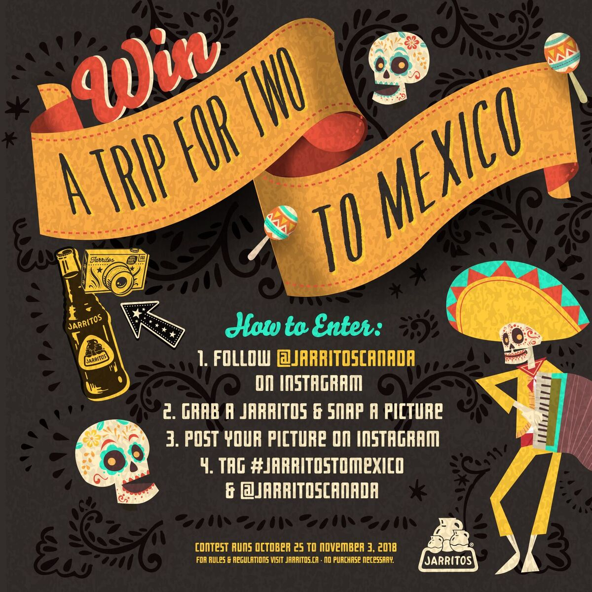 Win a Trip to Mexico.